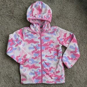 PUMA girls pink camo hoodie fleece